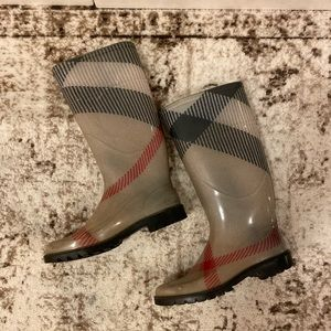 Burberry Large Scale Check Rainboots